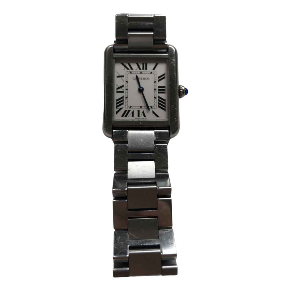 Cartier Tank Solo Uhr in  Silber Stahl