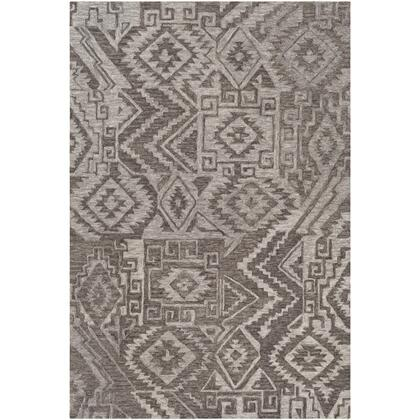 Newcastle NCS-2301 8' x 10' Rectangle Global Rug in Medium Gray  Charcoal