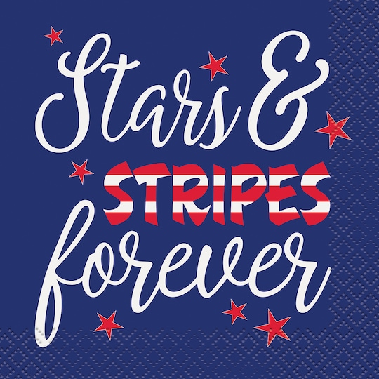 Stars And Stripes Forever Patriotic Beverage Napkins, 16Ct By Unique   Michaels®