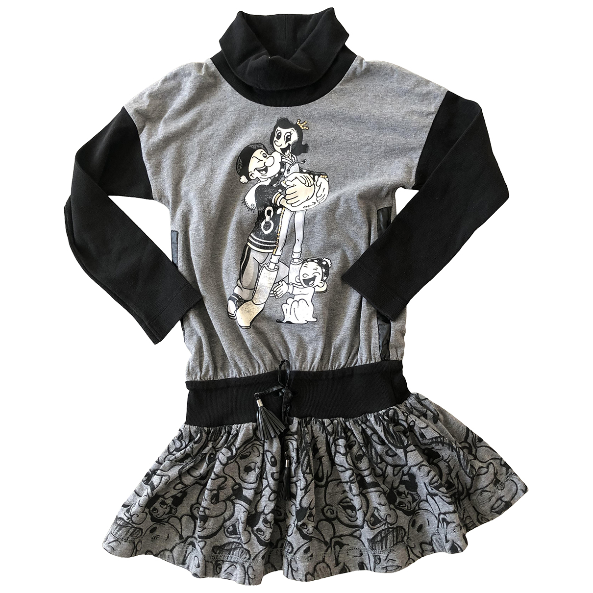 Monnalisa N Grey Cotton dress for Kids 10 years - until 56 inches UK