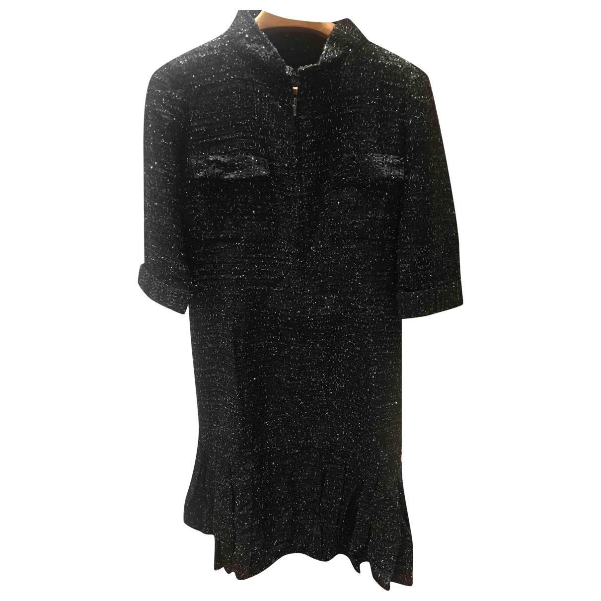 Chanel \N Black Tweed dress for Women 46 FR