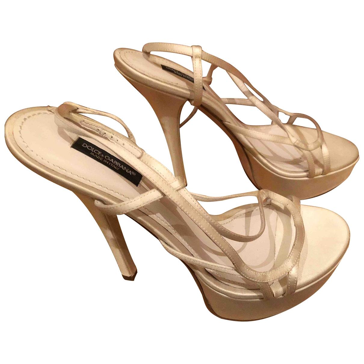 Dolce & Gabbana - Sandales   pour femme en toile