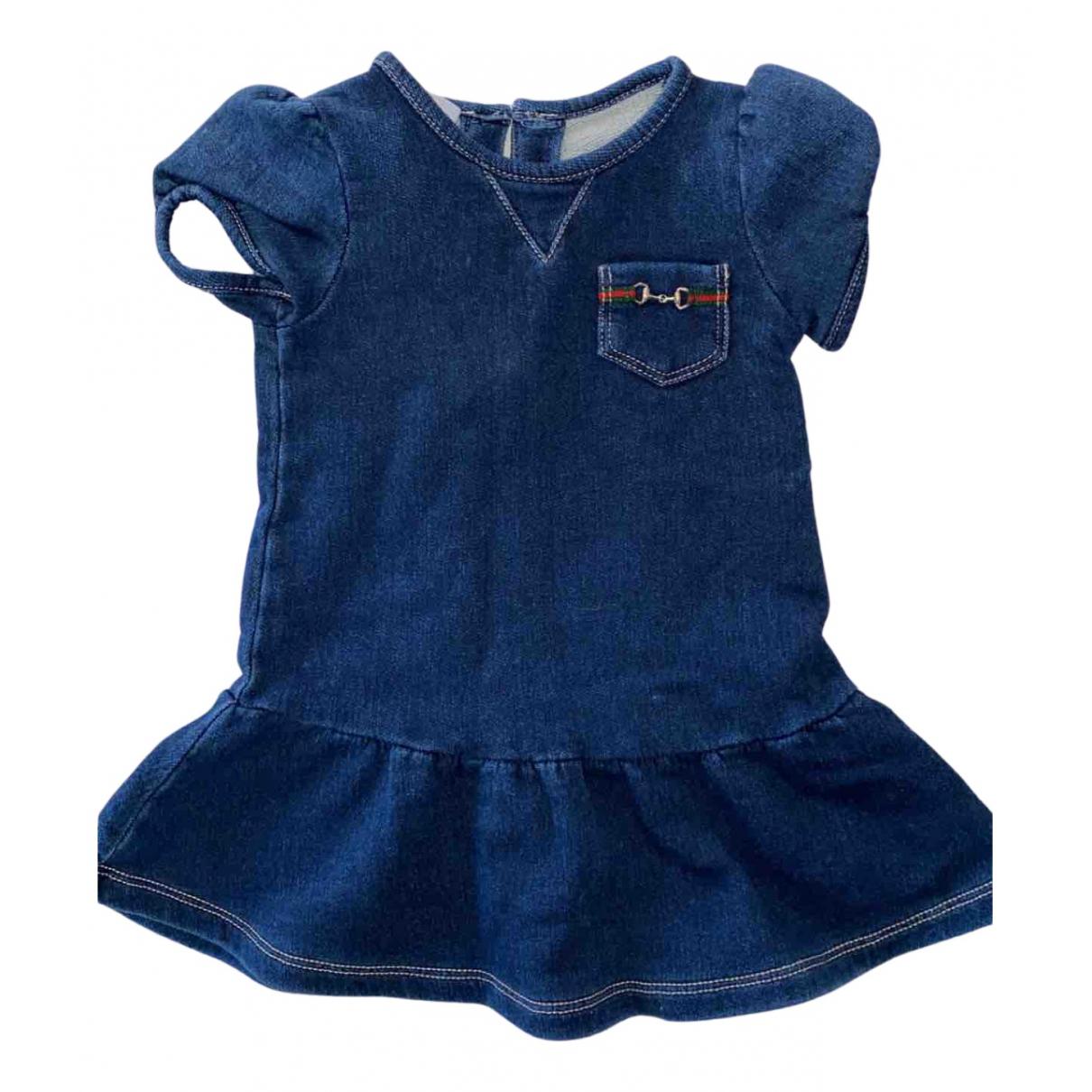 Gucci \N Kleid in  Blau Baumwolle