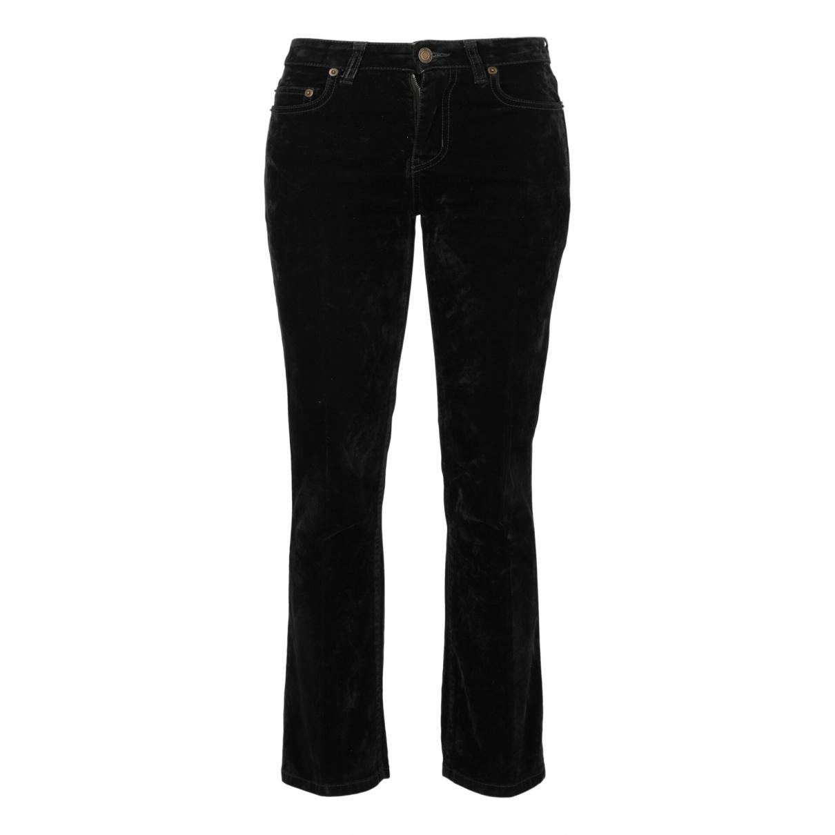 Saint Laurent - Jean   pour femme en coton - noir
