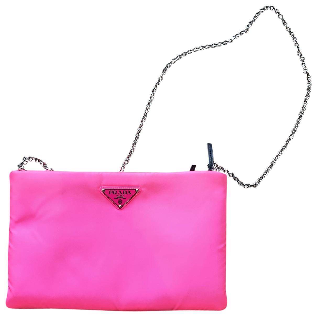 Prada - Pochette   pour femme en toile - rose