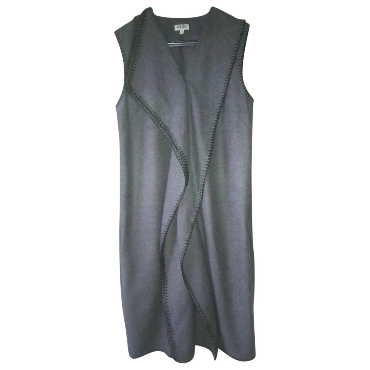 Kenzo \N Kleid in  Grau Baumwolle