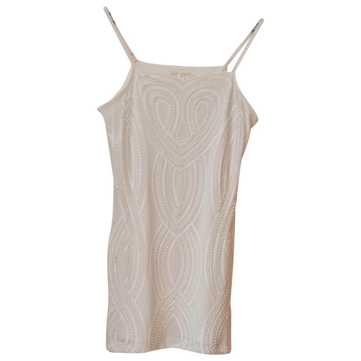 Non Signe / Unsigned \N Kleid in  Weiss Mit Pailletten