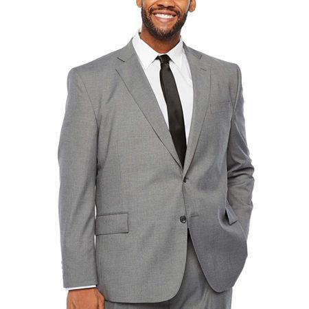 JF J.Ferrar Big and Tall Stretch Ultra Suit Jacket, 56 Big Long, Gray