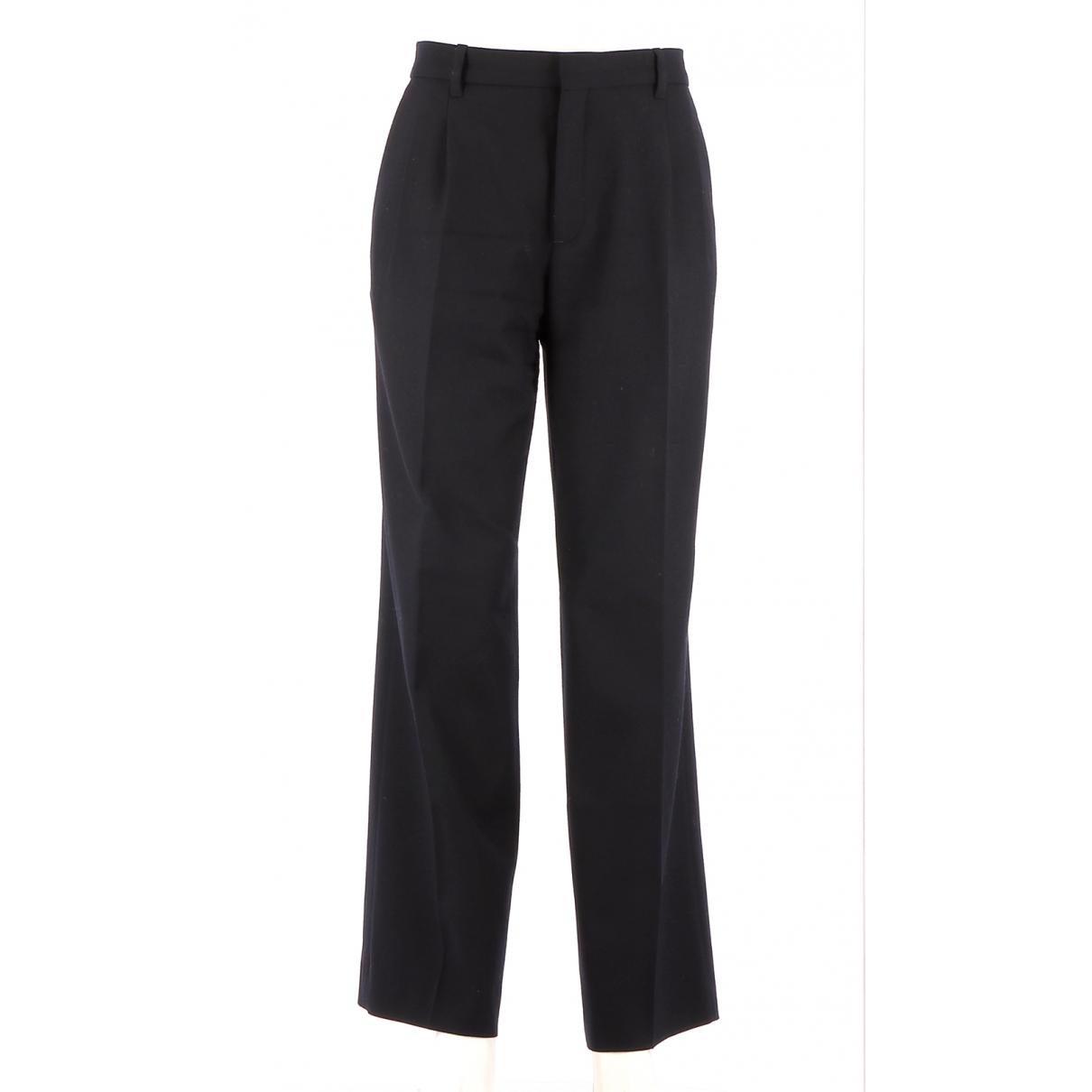 Comptoir Des Cotonniers \N Navy Wool Trousers for Women 42 FR