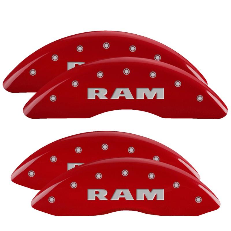MGP Caliper Covers 55002SRAMRD Set of 4: Red finish, Silver RAM / RAM Ram 2011-2018