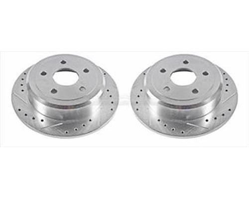 Power Stop AR83087XPR Drilled & Slotted Brake Rotors Front AR83087XPR