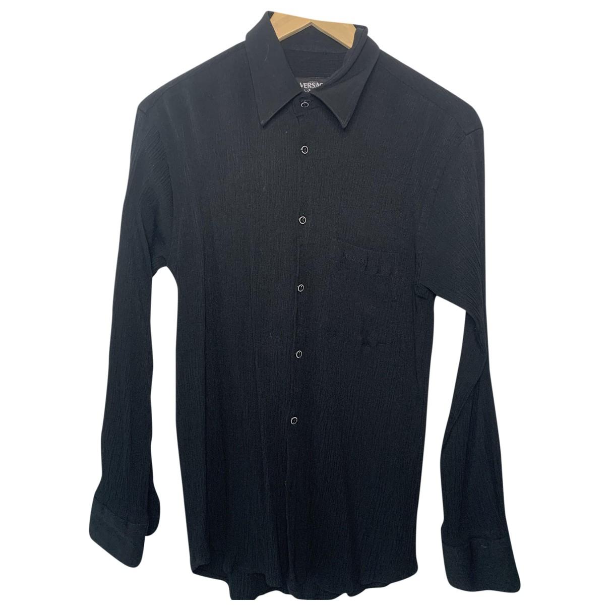 Versace \N Hemden in  Schwarz Viskose