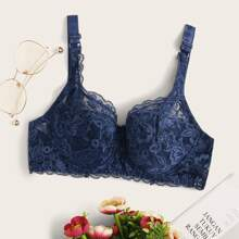 Floral Lace Underwire Bra