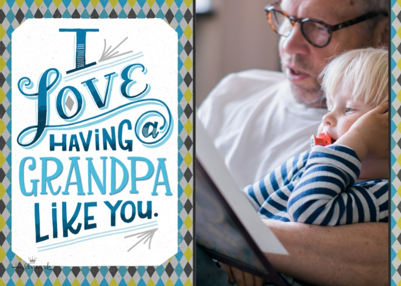 Father's Day Mail-for-Me Premium 5x7 Folded Card , Card & Stationery -A Grandpa Like You