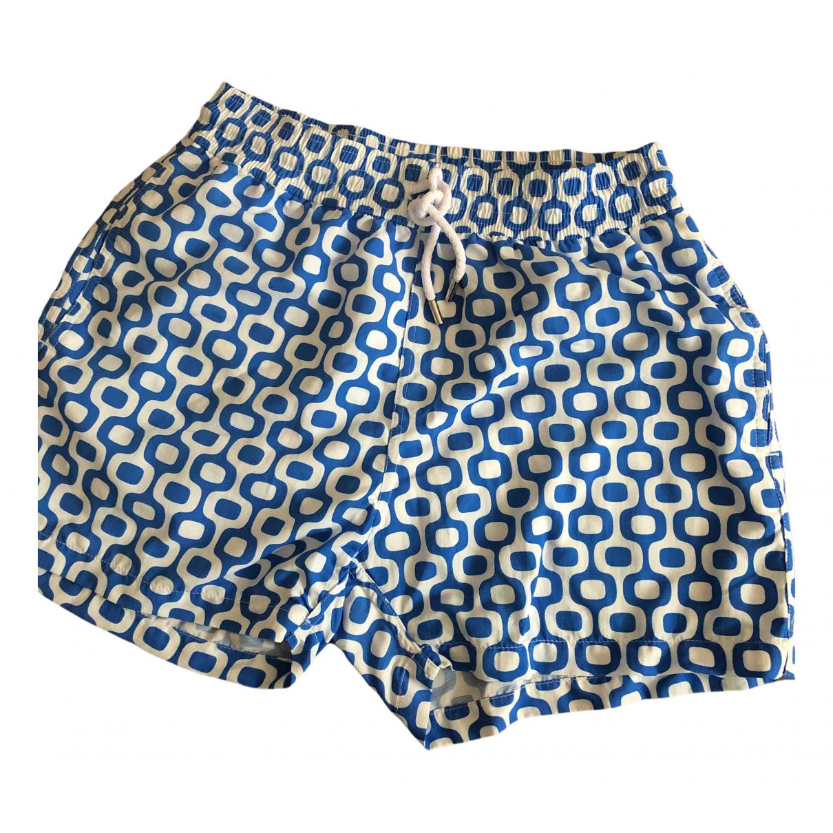 Frescobol Carioca \N Badeanzug in  Blau Baumwolle - Elasthan
