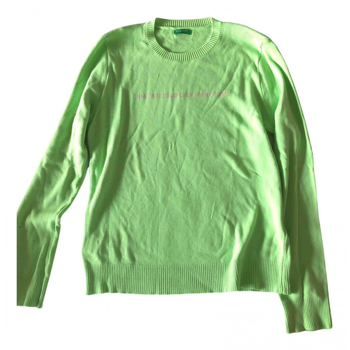 Benetton \N Pullover, StrickJacke in  Gruen Baumwolle