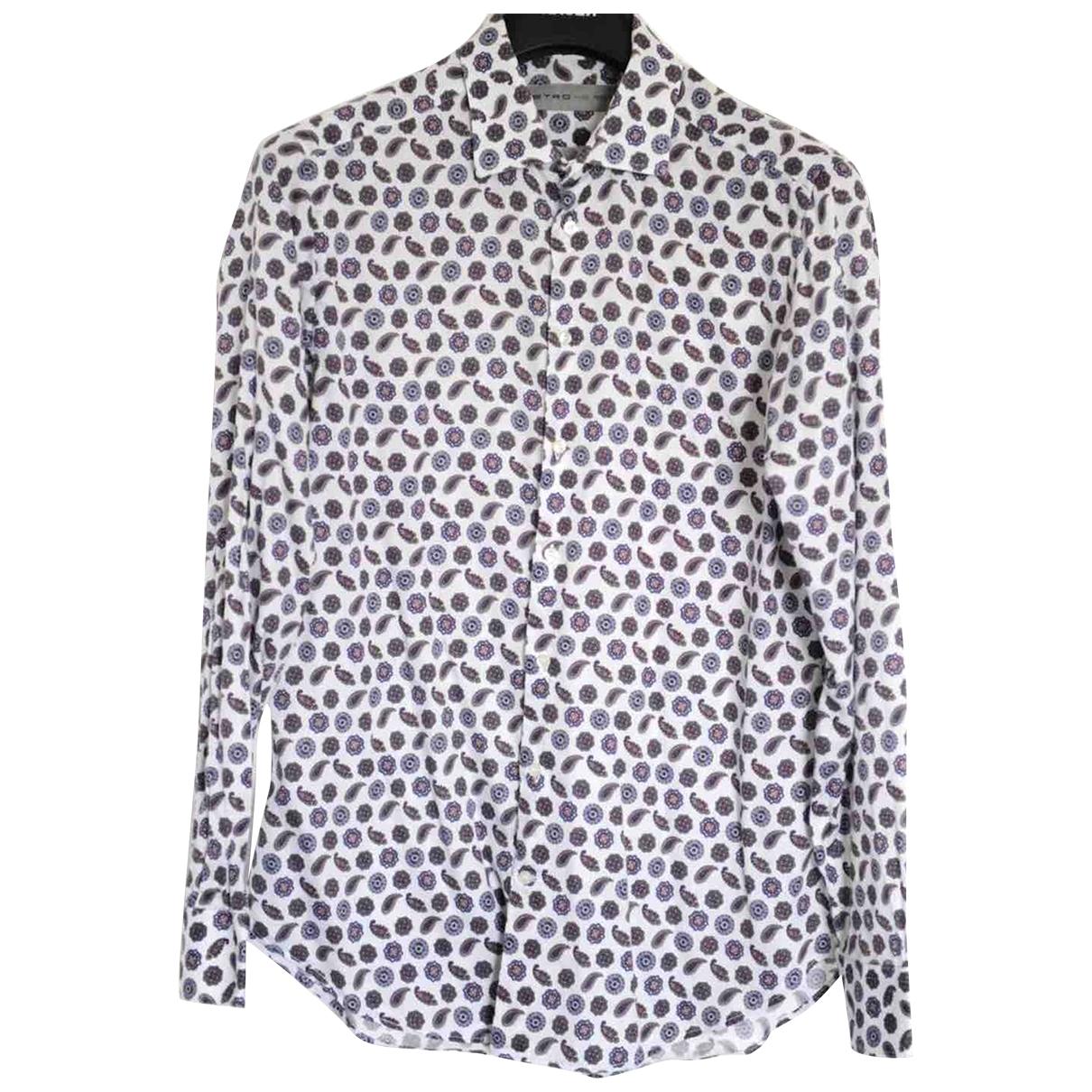 Etro \N Multicolour Cotton Shirts for Men 42 EU (tour de cou / collar)