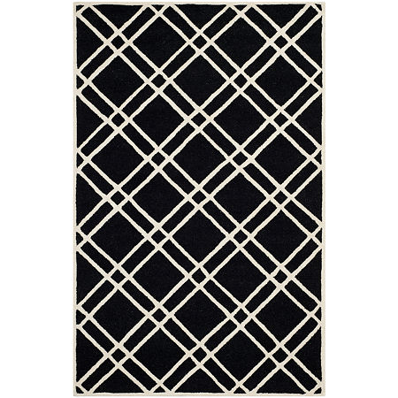 Safavieh Phelim Geometric Hand Tufted Wool Rug, One Size , Black