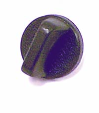 Rugged Ridge 13318.01 Windshield Knob, Interior, Black; 76-86 Jeep CJ Jeep
