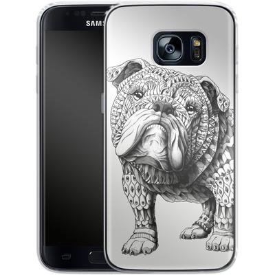 Samsung Galaxy S7 Silikon Handyhuelle - English Bulldog von BIOWORKZ