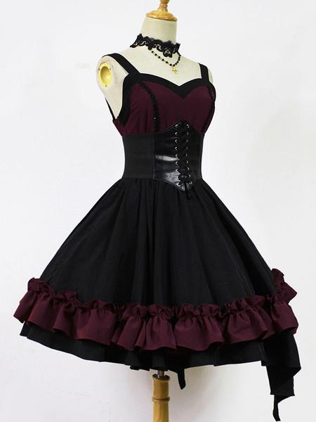 Milanoo Gothic Lolita Jsk Jumper Skirt Night Of Seraph Gothic Steampunk Lolita Jsk Original Design