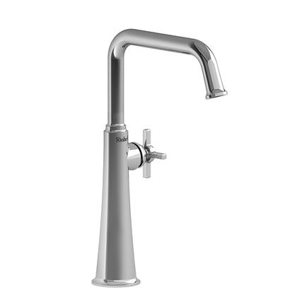 Momenti MMSQL01+PNBK-05 Single Hole Lavatory Faucet with + Cross Handle 0.5 GPM  in Polished