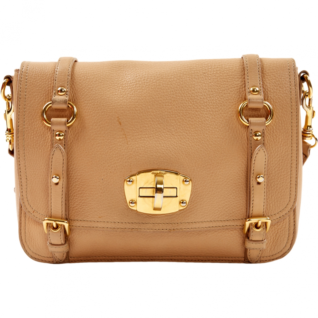 Miu Miu \N Beige Leather handbag for Women \N