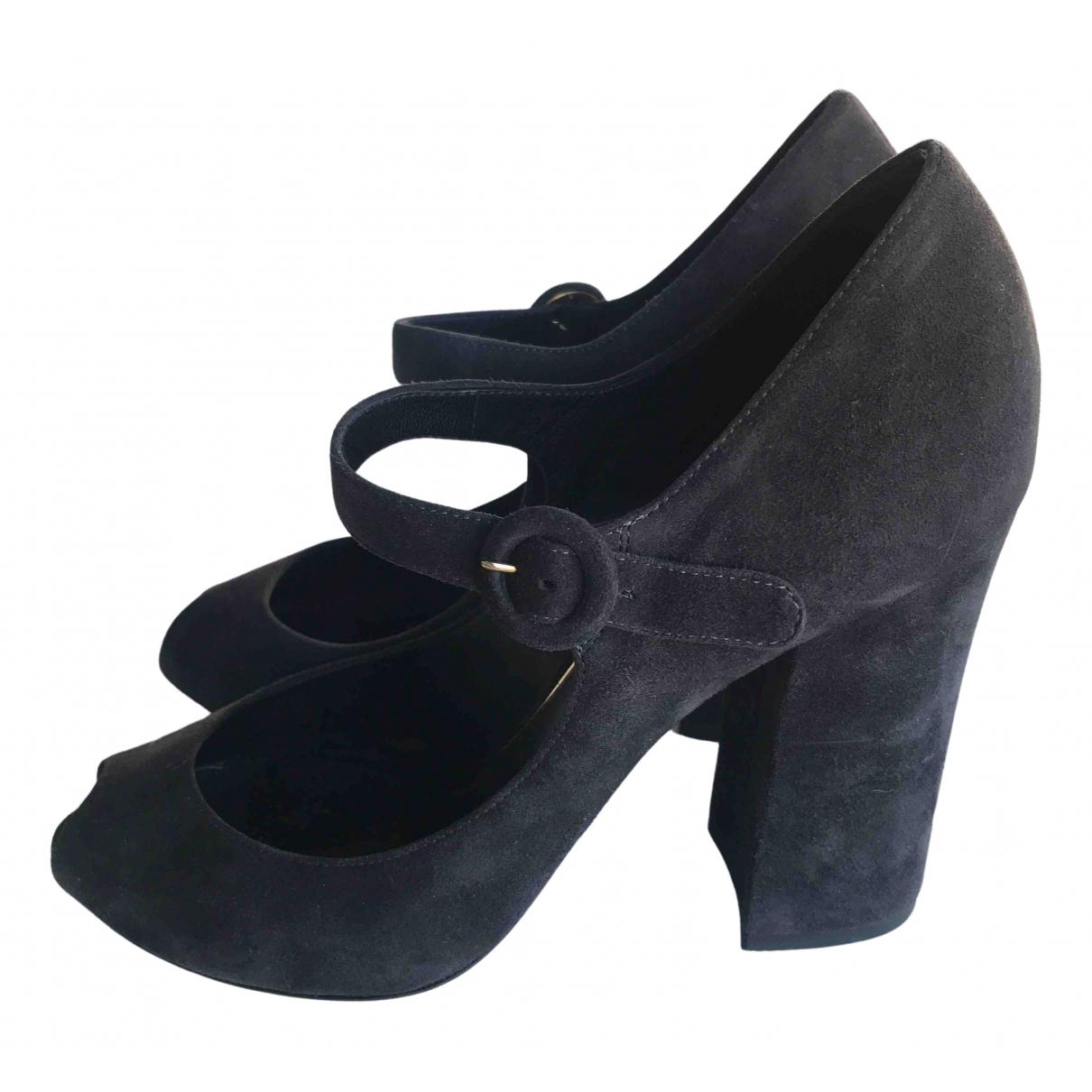 Dolce & Gabbana N Black Suede Heels for Women 39 EU