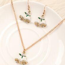 3pcs Christmas Bell Decor Jewelry Set