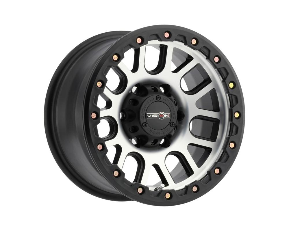 Vision Nemesis Matte Black Machined Face Wheel 20x9 8x165.1 12