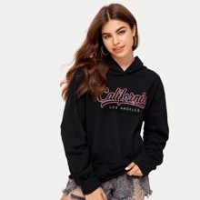 Letter Hooded Sweatshirt
