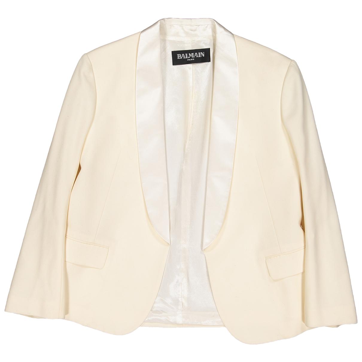 Balmain - Veste   pour femme en laine - ecru