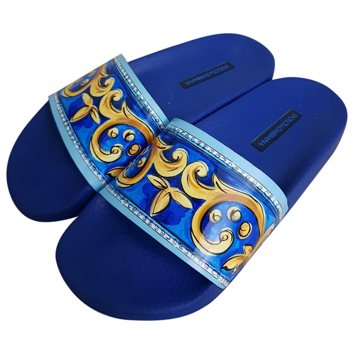 Dolce & Gabbana - Sandales   pour femme - bleu