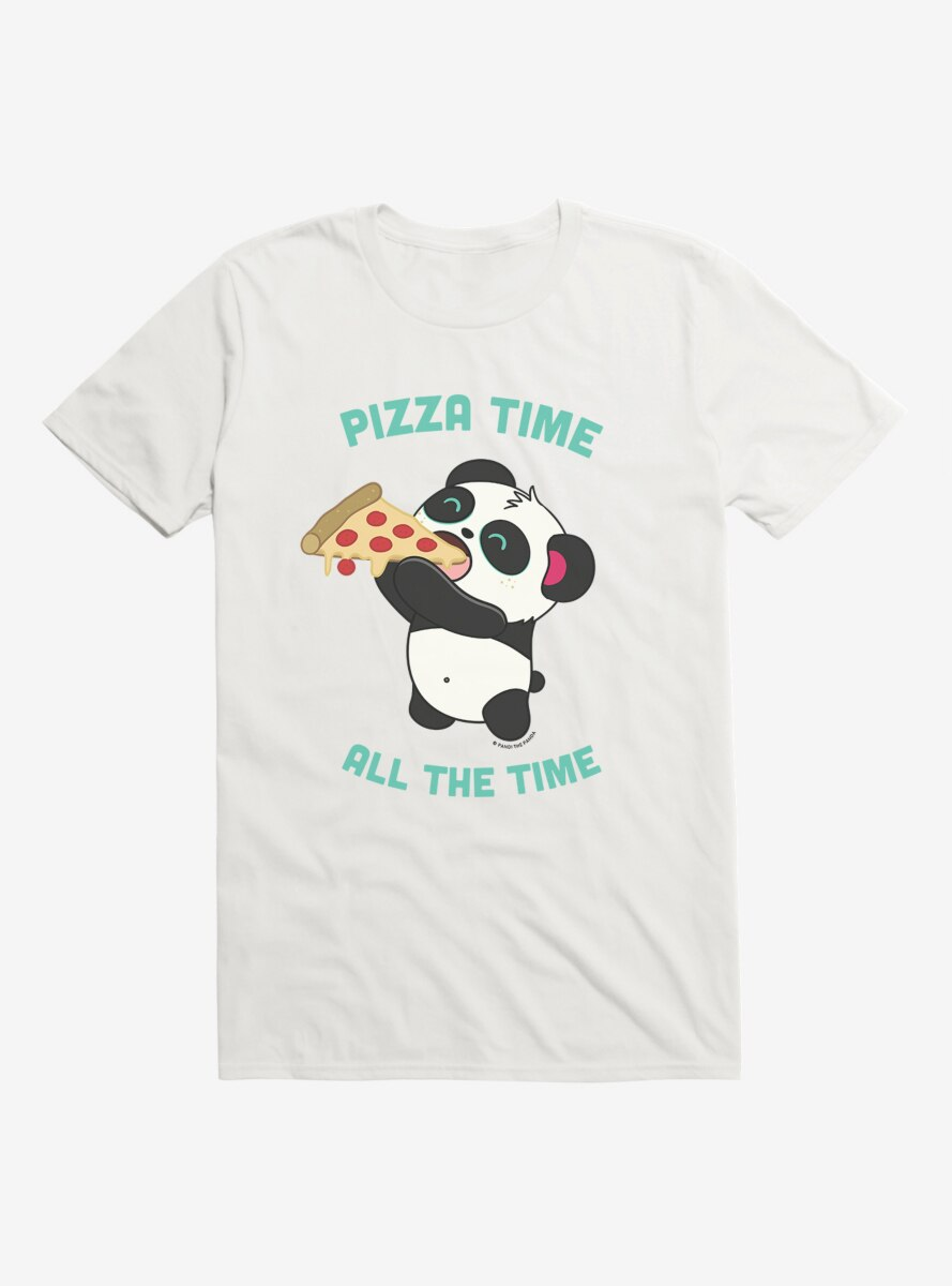 BL Creators: Hungry Rabbit Studio Pandi The Panda Pizza Time All The Time T-Shirt