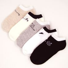 5 pares calcetines con patron geometrico