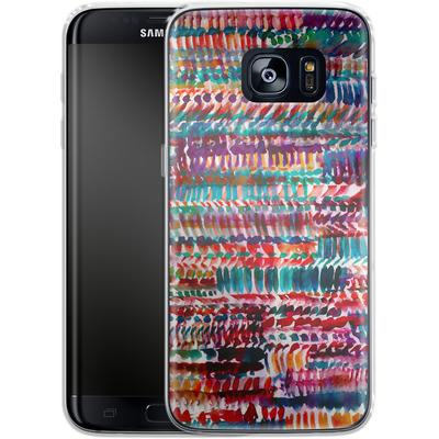 Samsung Galaxy S7 Edge Silikon Handyhuelle - Rain von Amy Sia