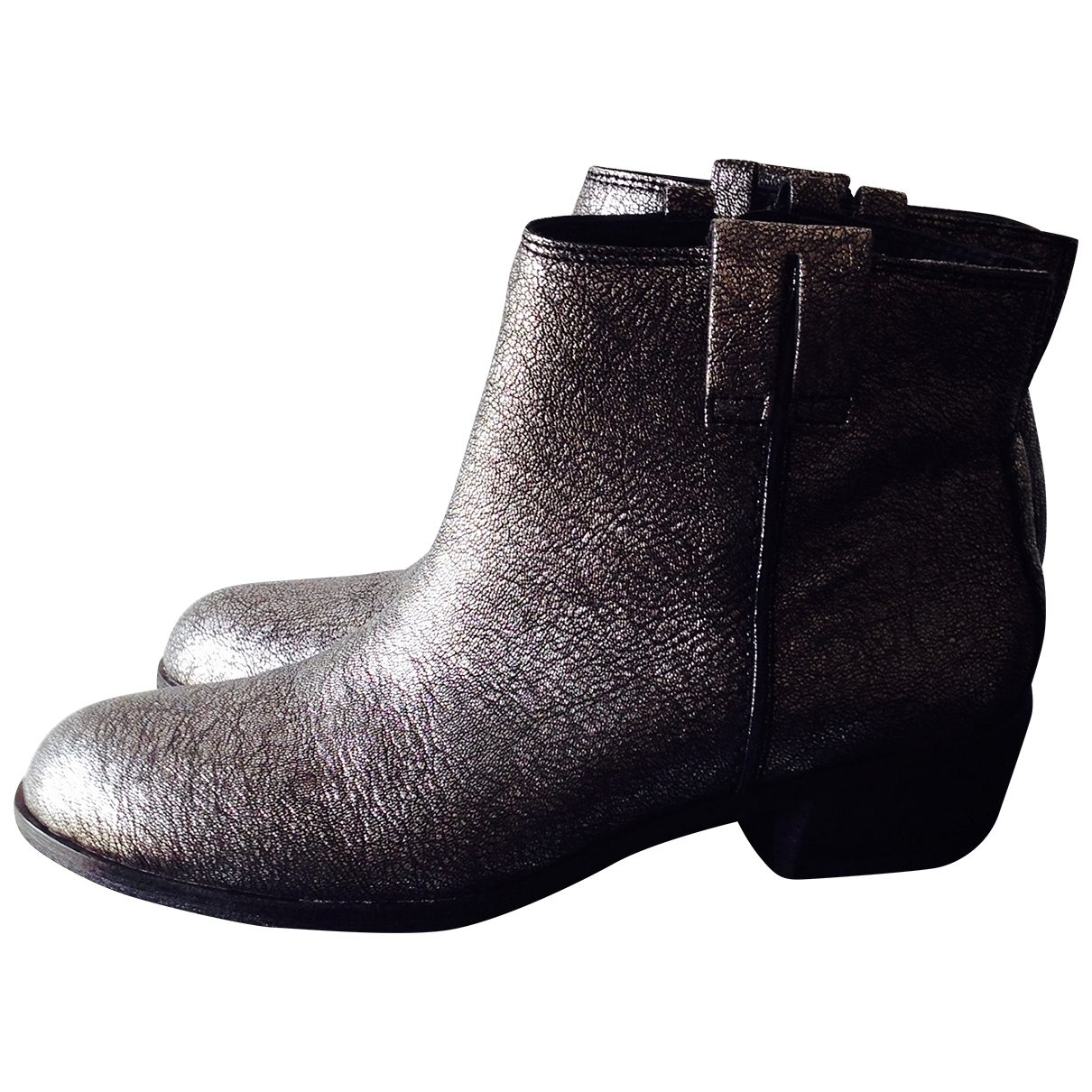 Sam Edelman \N Silver Leather Ankle boots for Women 37 EU