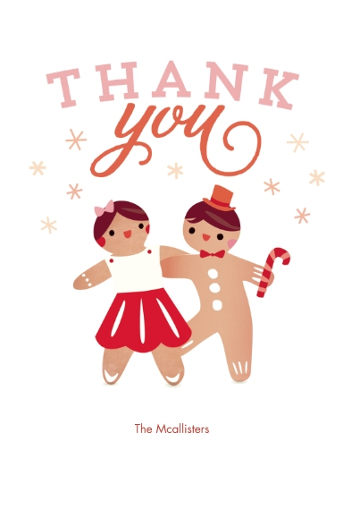 Thank You Cards 5x7 Cards, Premium Cardstock 120lb with Rounded Corners, Card & Stationery -Cookie ParTAY Thank You