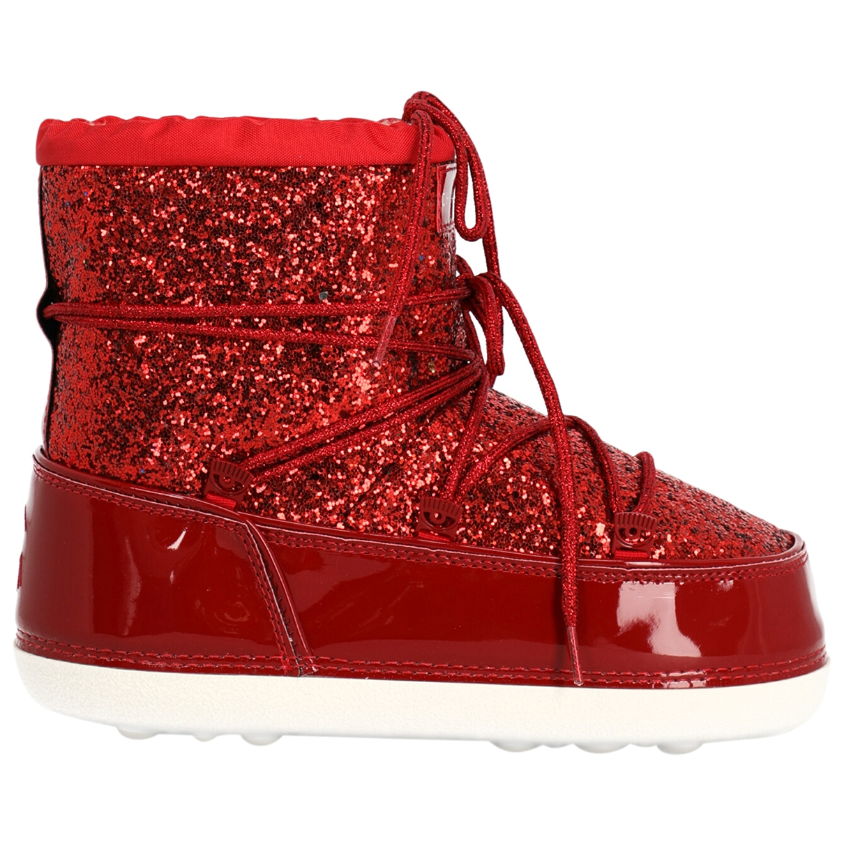 Chiara Ferragni \N Red Cloth Ankle boots for Women 38 IT