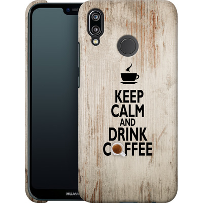 Huawei P20 Lite Smartphone Huelle - Drink Coffee von caseable Designs