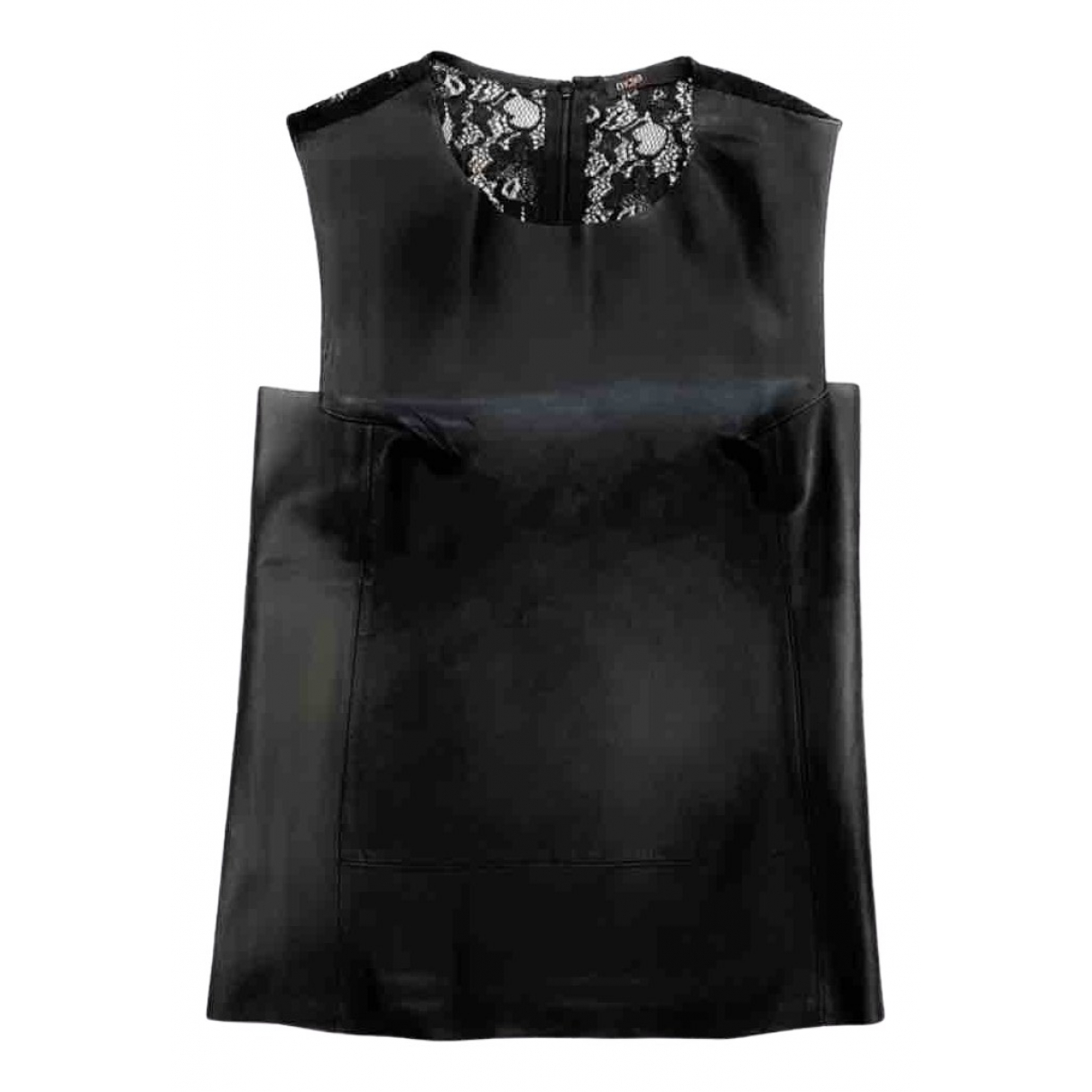 Maje - Top   pour femme en cuir - noir