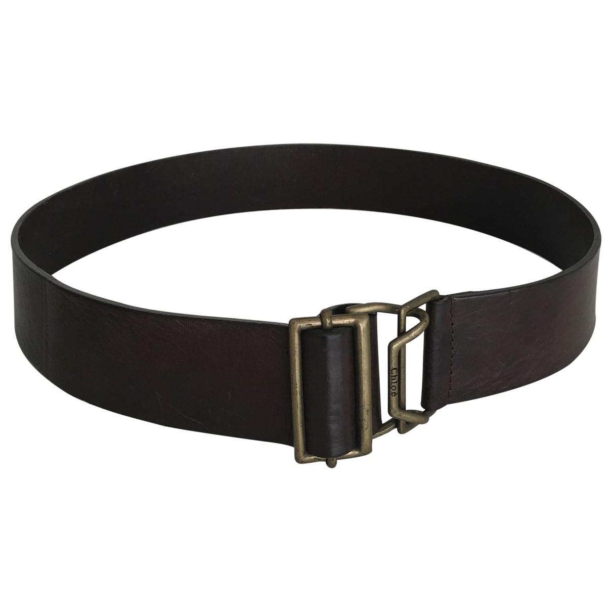 Chloé \N Brown Leather belt for Women 85 cm