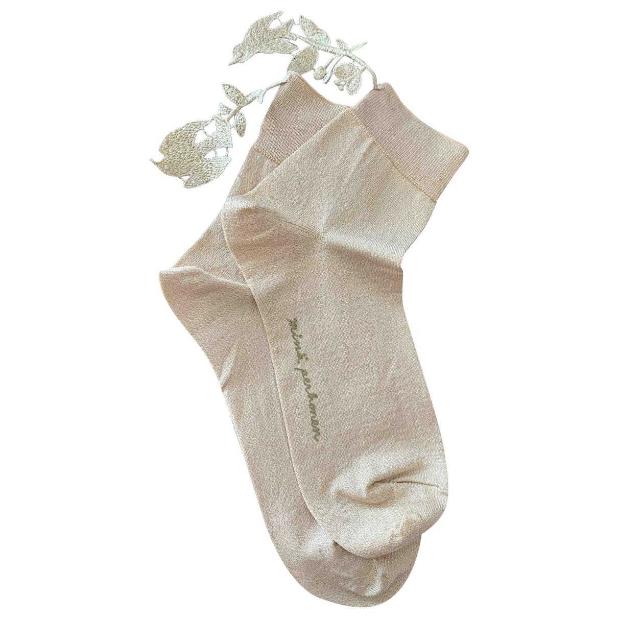Mina Perhonen \N Gold Cotton Silk handkerchief for Women \N