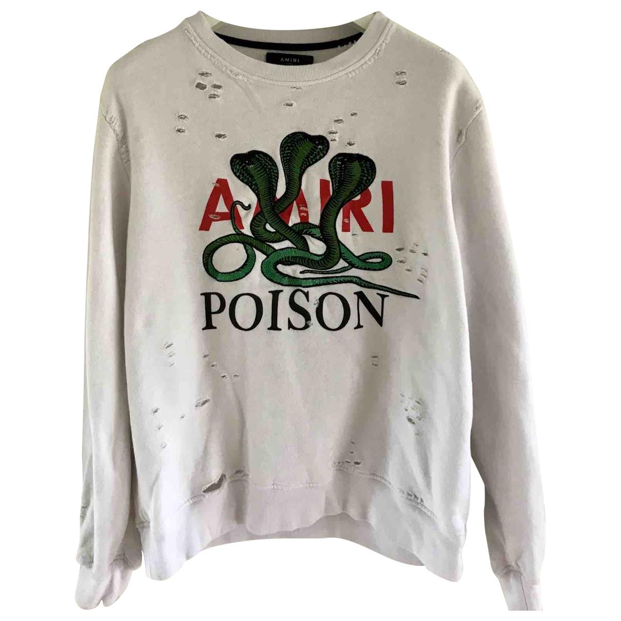Amiri \N Pullover.Westen.Sweatshirts  in  Weiss Baumwolle