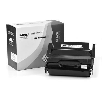 Compatible Lexmark X651H11A Black Toner Cartridge High Yield - Moustache@