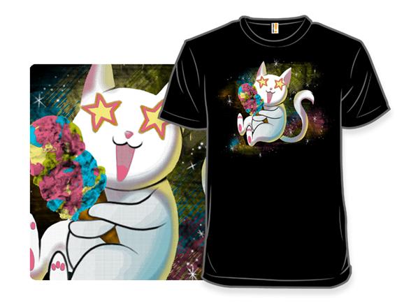 Galactic Rainbow Ice Cream Cat T Shirt