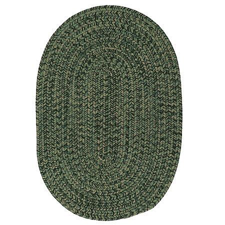 Colonial Mills Anchor Isle Braided Oval Reversible Indoor/Outdoor Rugs, One Size , Green