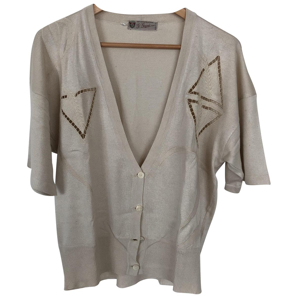 Gucci - Pull   pour femme en soie - beige
