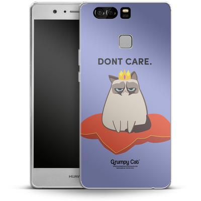 Huawei P9 Silikon Handyhuelle - Dont Care von Grumpy Cat