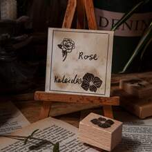 1 pieza sello con estampado de flor